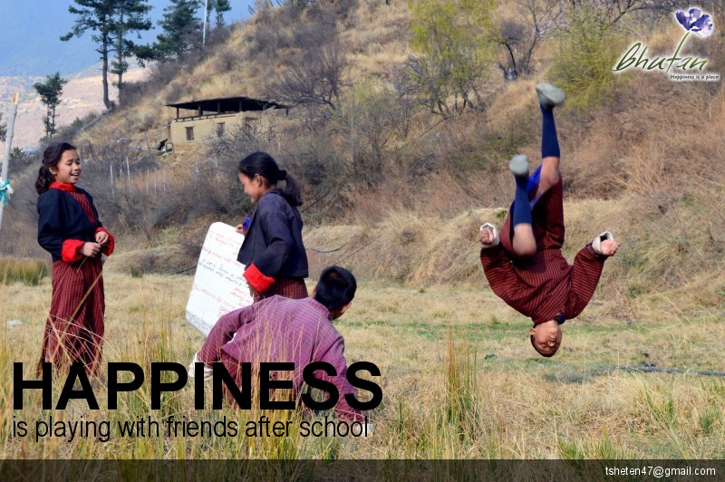 Happiness is playing with friends after school