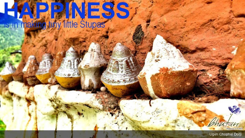Happiness is in making tiny little Stupas