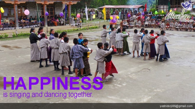 Happiness is singing and dancing together.