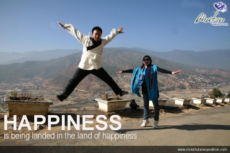 Happiness is being landed in the land of happiness