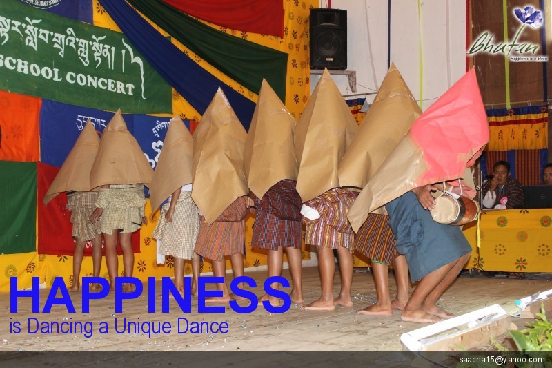 Happiness is Dancing a Unique Dance