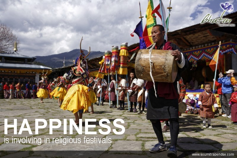 Happiness is involving in religious festivals
