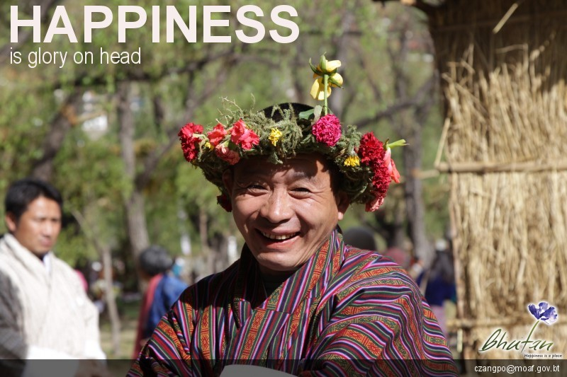 Happiness is glory on head