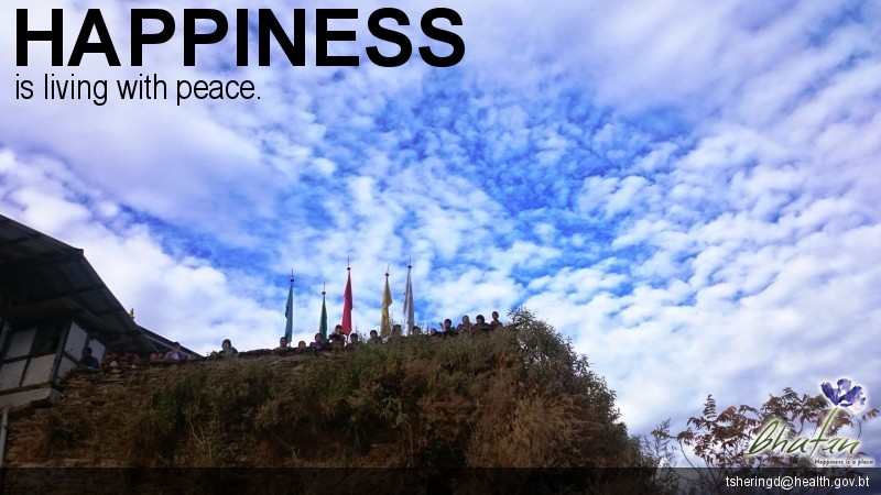 Happiness is living with peace.