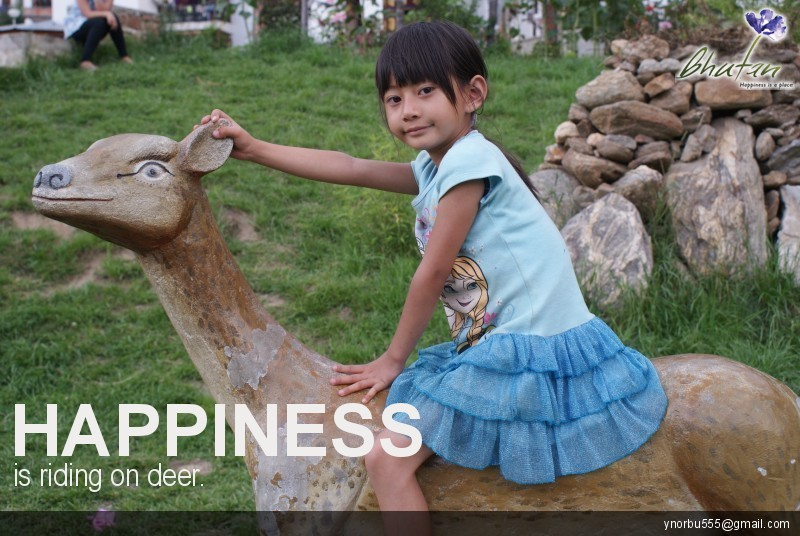 Happiness is riding on deer.