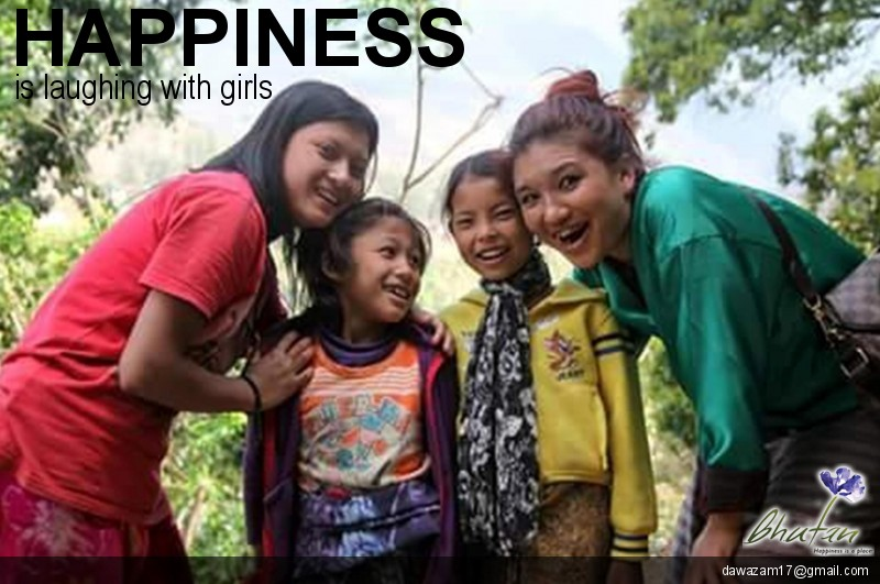 Happiness is laughing with girls