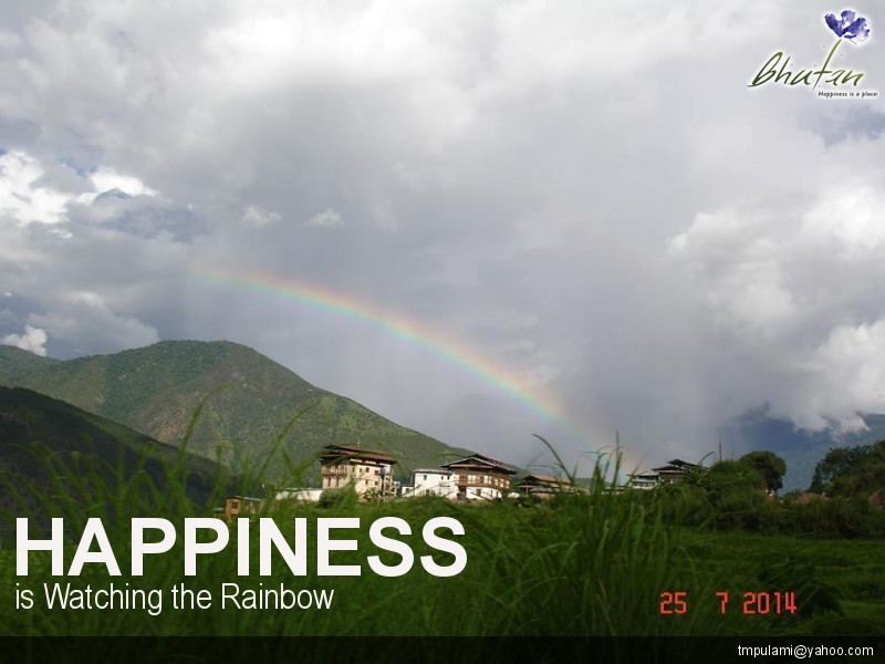 Happiness is Watching the Rainbow