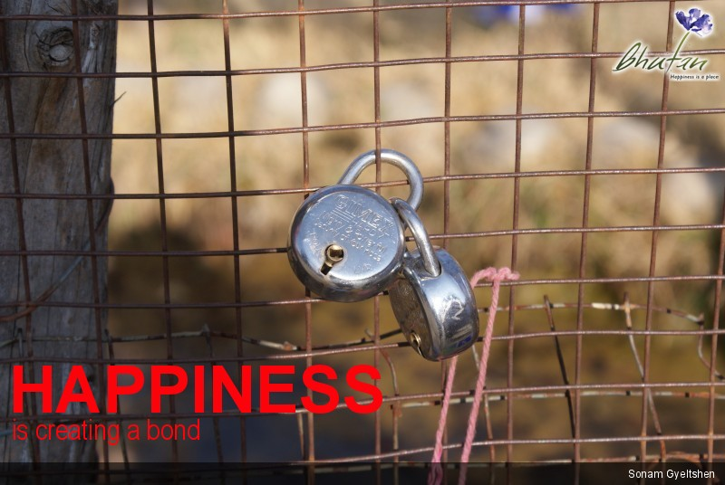 Happiness is creating a bond