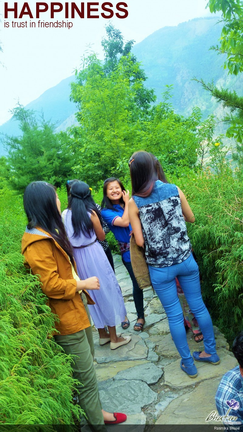 Happiness is trust in friendship