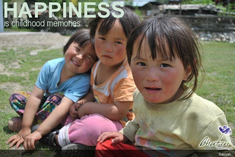 Happiness is childhood memories