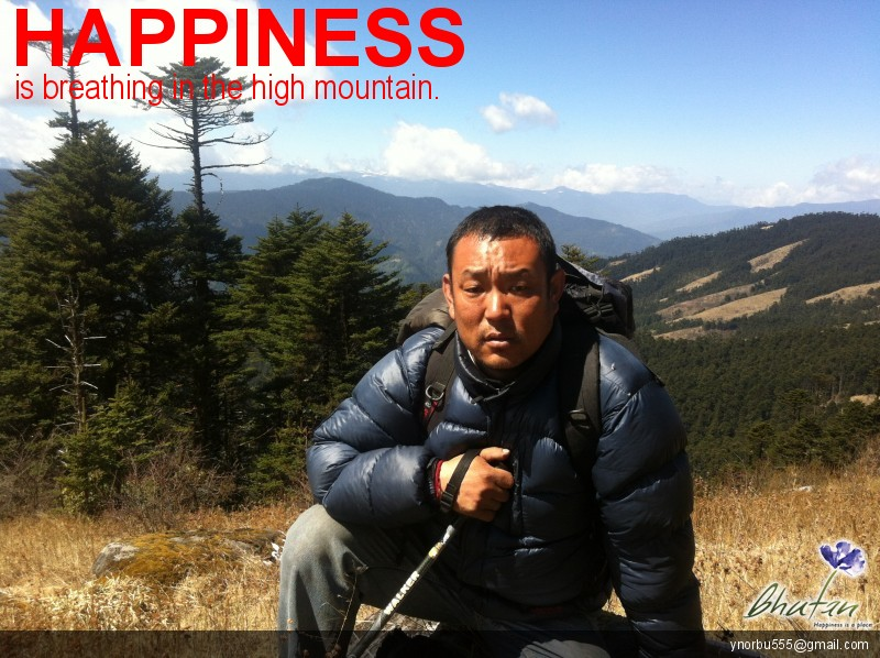Happiness is breathing in the high mountain.