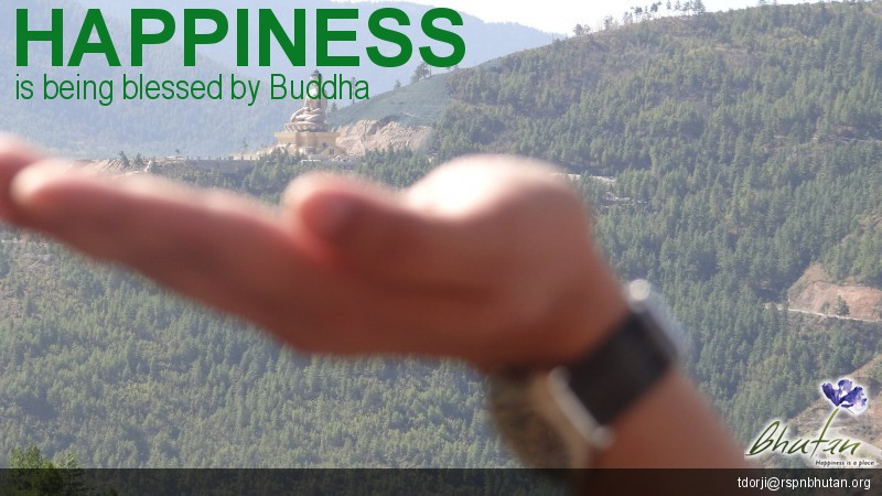 Happiness is being blessed by Buddha