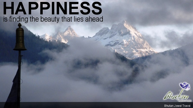 Happiness is finding the beauty that lies ahead