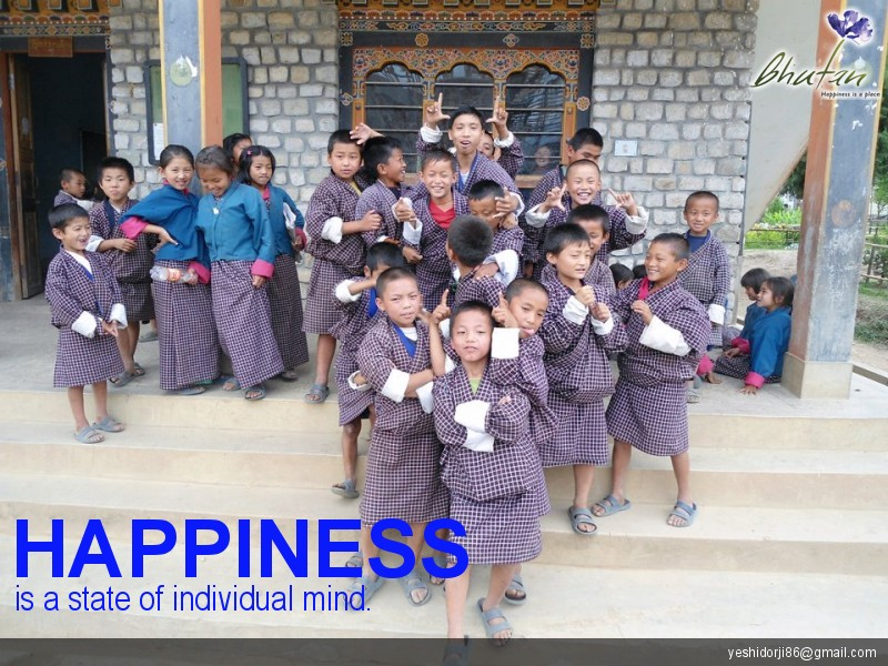 Happiness is a state of individual mind.