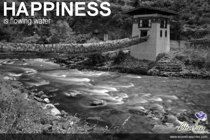 Happiness is flowing water
