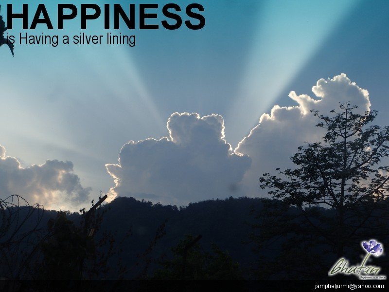 Happiness is Having a silver lining