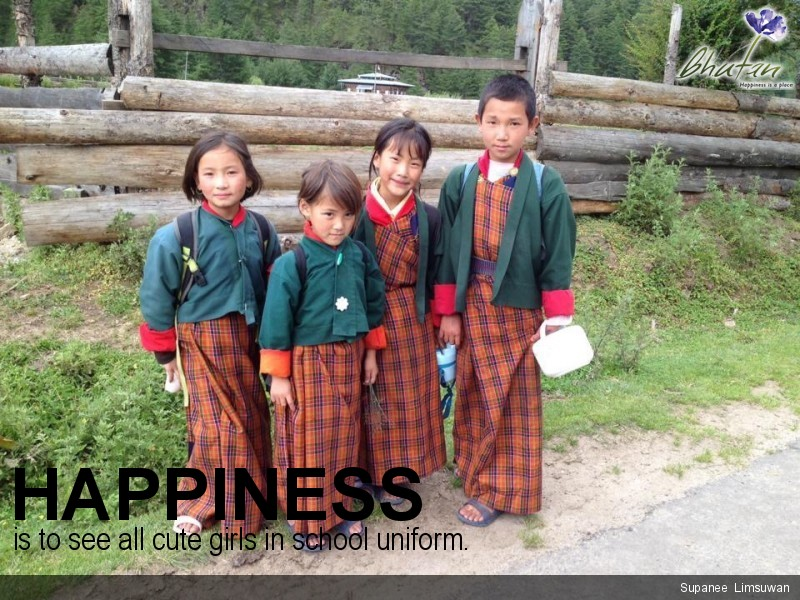 Happiness is to see all cute girls in school uniform.