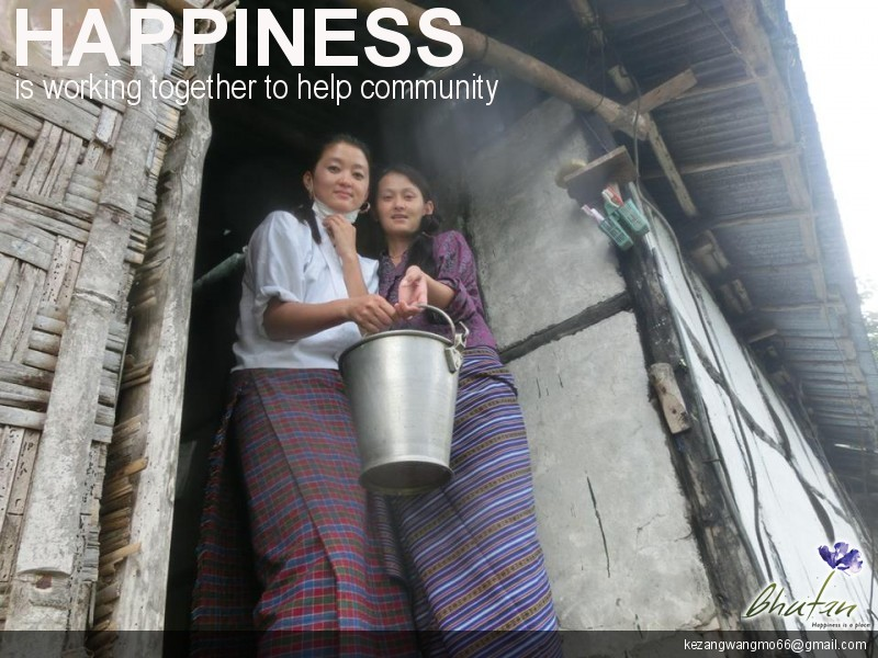 Happiness is working together to help community