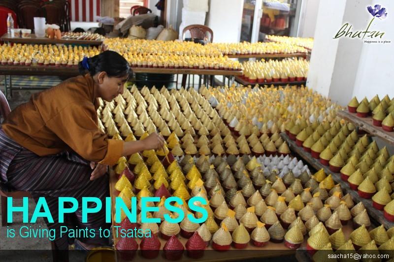 Happiness is Giving Paints to Tsatsa