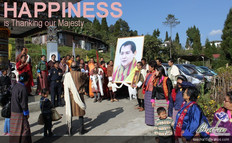 Happiness is Thanking our Majesty