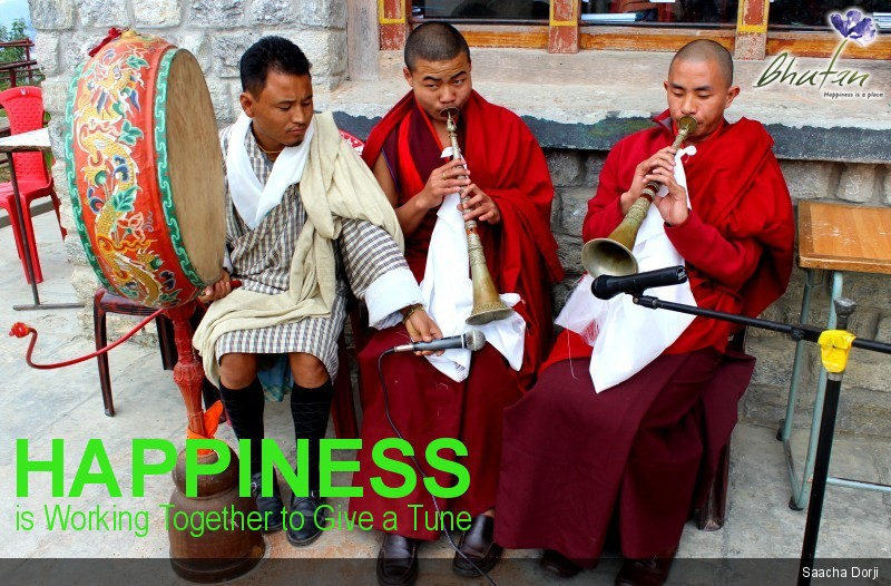 Happiness is Working Together to Give a Tune