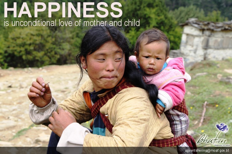 Happiness is unconditional love of mother and child