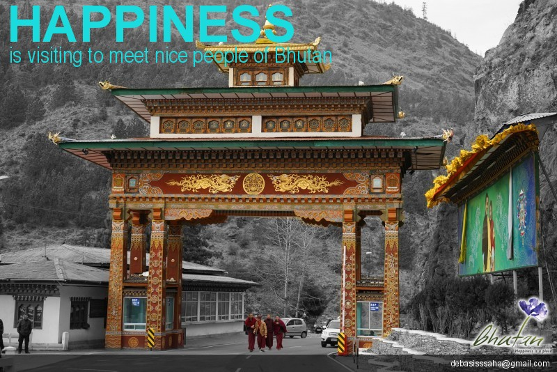 Happiness is visiting to meet nice people of Bhutan