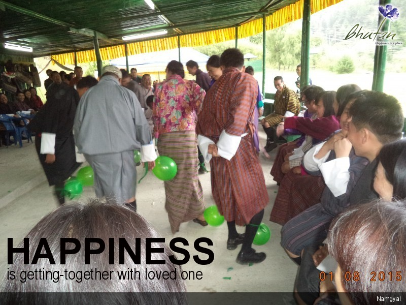 Happiness is getting-together with loved one