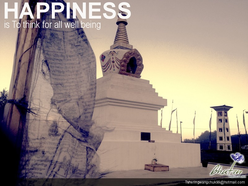 Happiness is To think for all well being