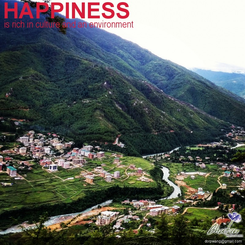 Happiness is rich in culture and an environment