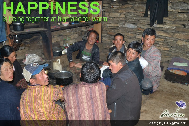 Happiness is being together at highland for warm
