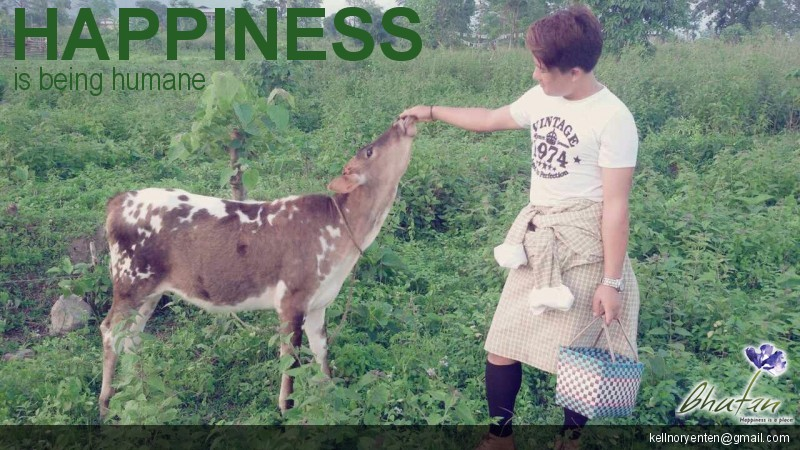 Happiness is being humane