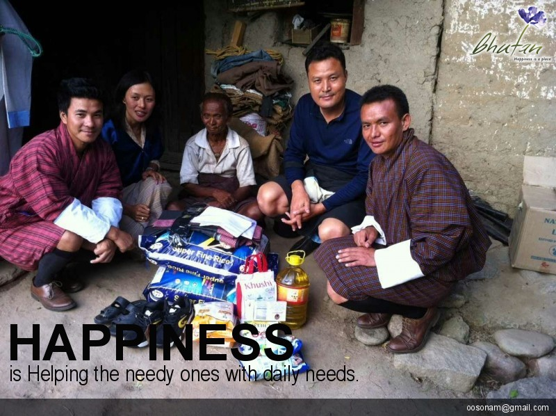 Happiness is Helping the needy ones with daily needs.