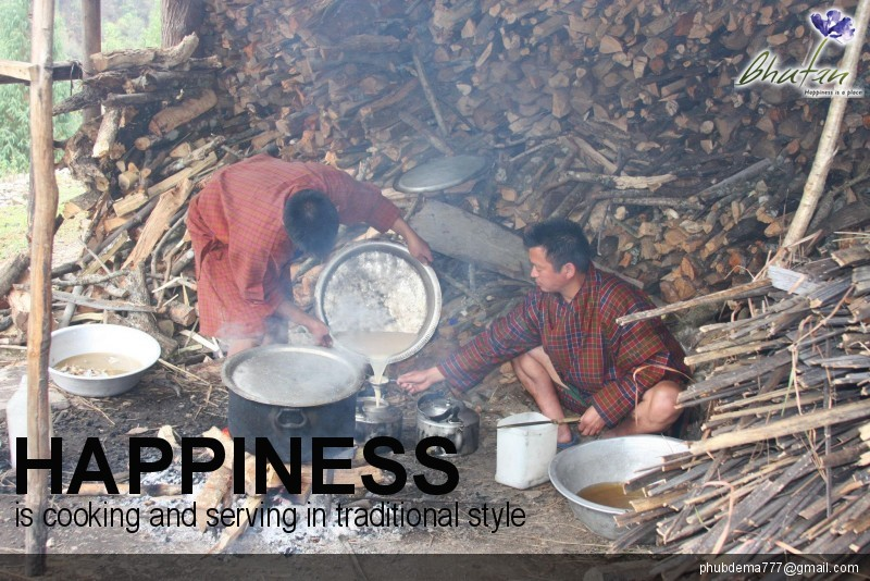 Happiness is cooking and serving in traditional style