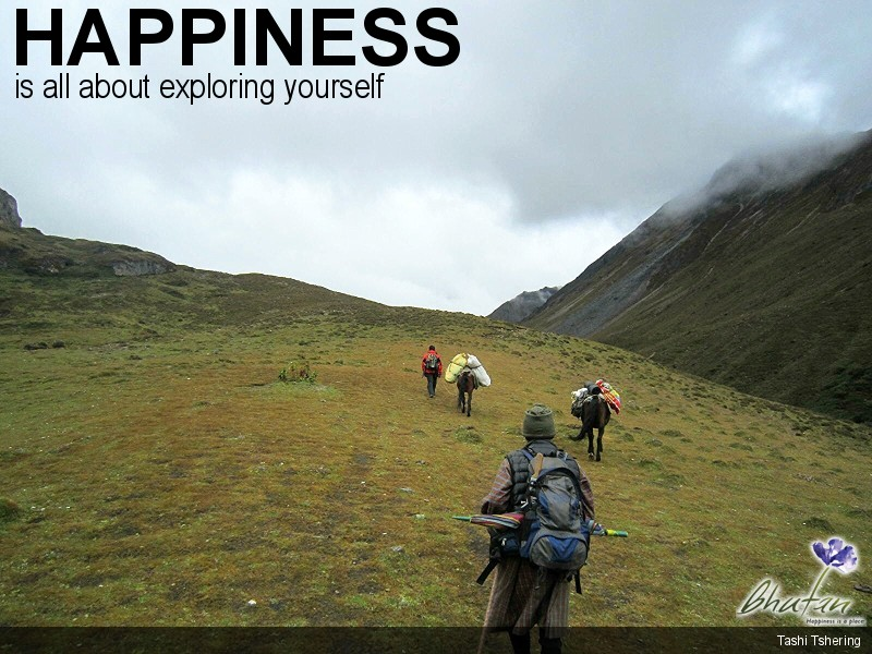 Happiness is all about exploring yourself