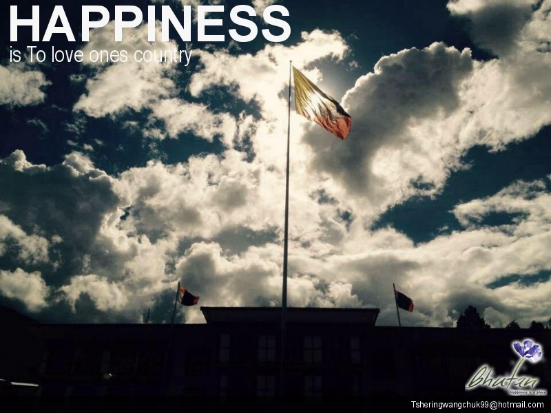 Happiness is To love ones country