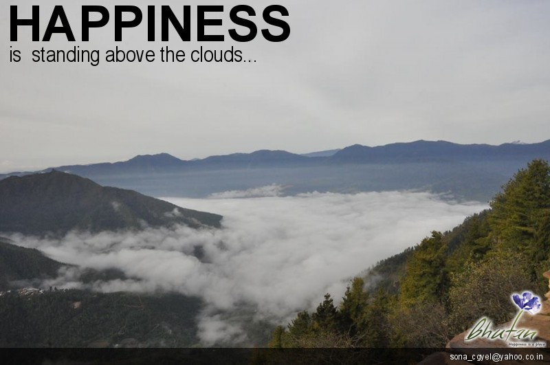 Happiness is  standing above the clouds...