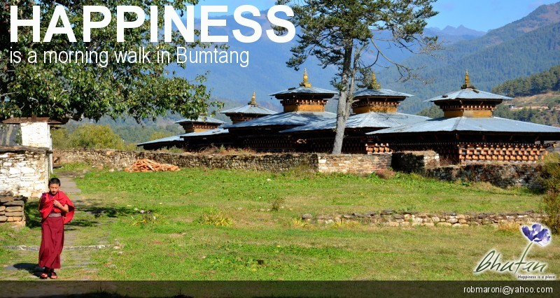 Happiness is a morning walk in Bumtang