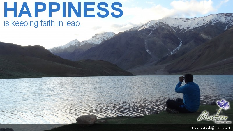 Happiness is keeping faith in leap.