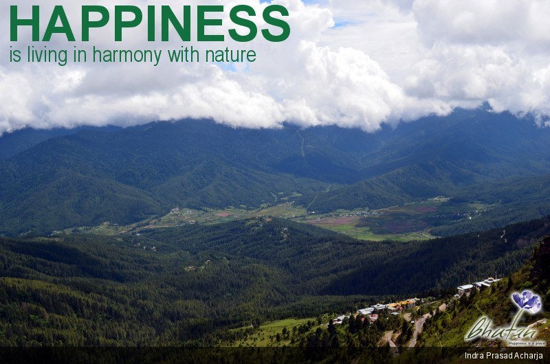 Happiness is living in harmony with nature