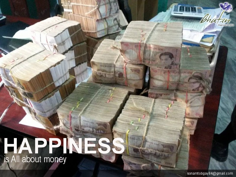 Happiness is All about money