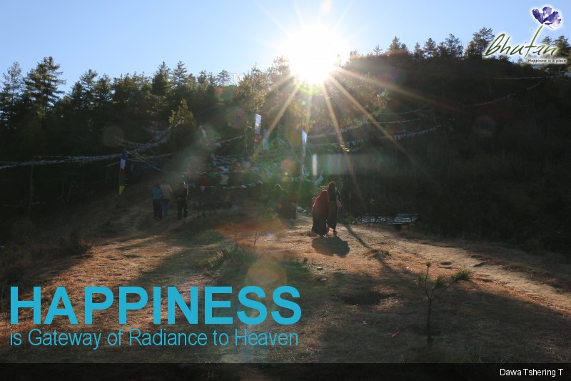 Happiness is Gateway of Radiance to Heaven