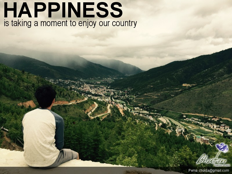 Happiness is taking a moment to enjoy our country
