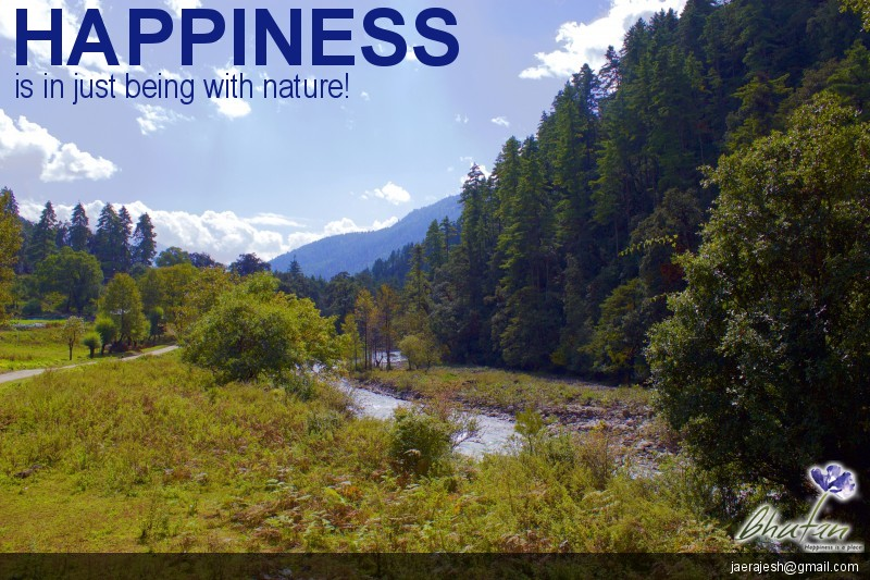 Happiness is in just being with nature!