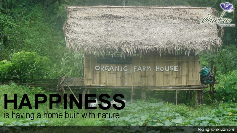 Happiness is having a home built with nature