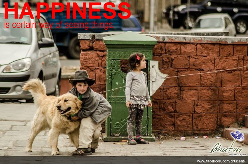 Happiness is certain way of seeing things.
