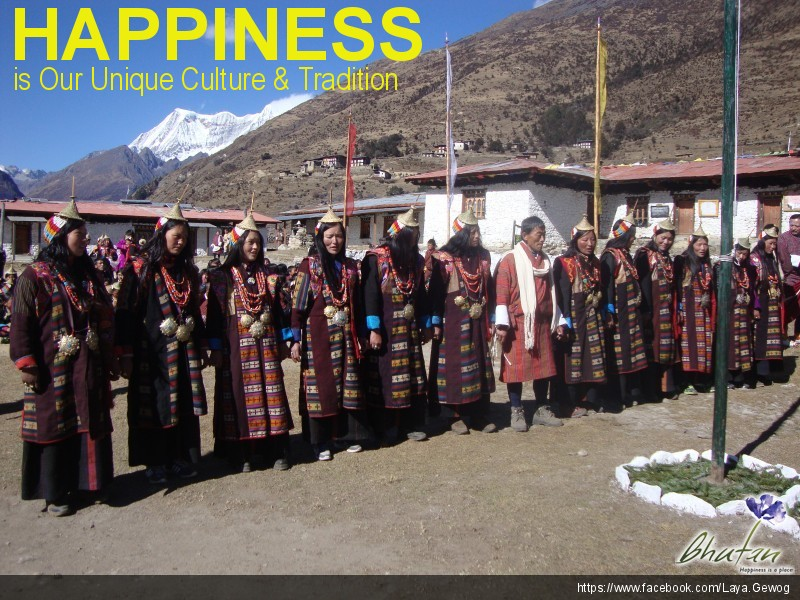 Happiness is Our Unique Culture & Tradition