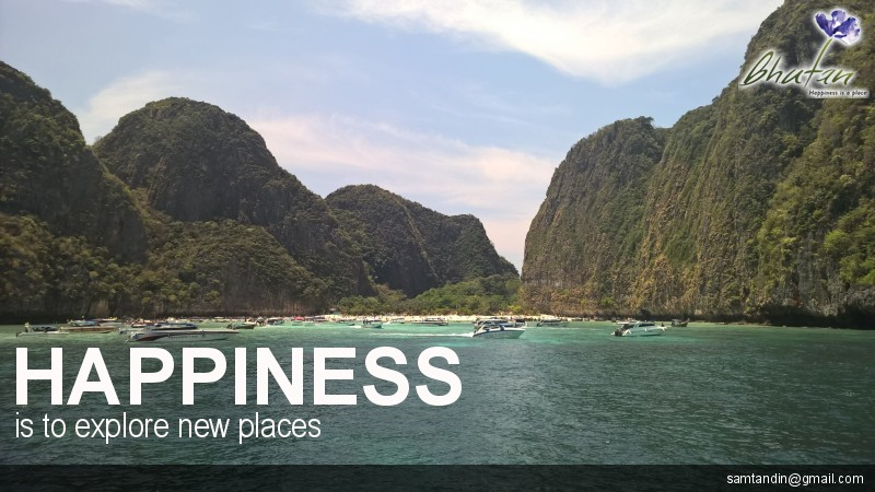 Happiness is to explore new places