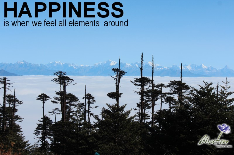 Happiness is when we feel all elements  around