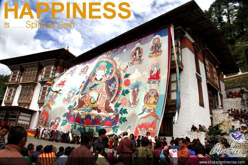 Happiness is ..... Spiritual Gain